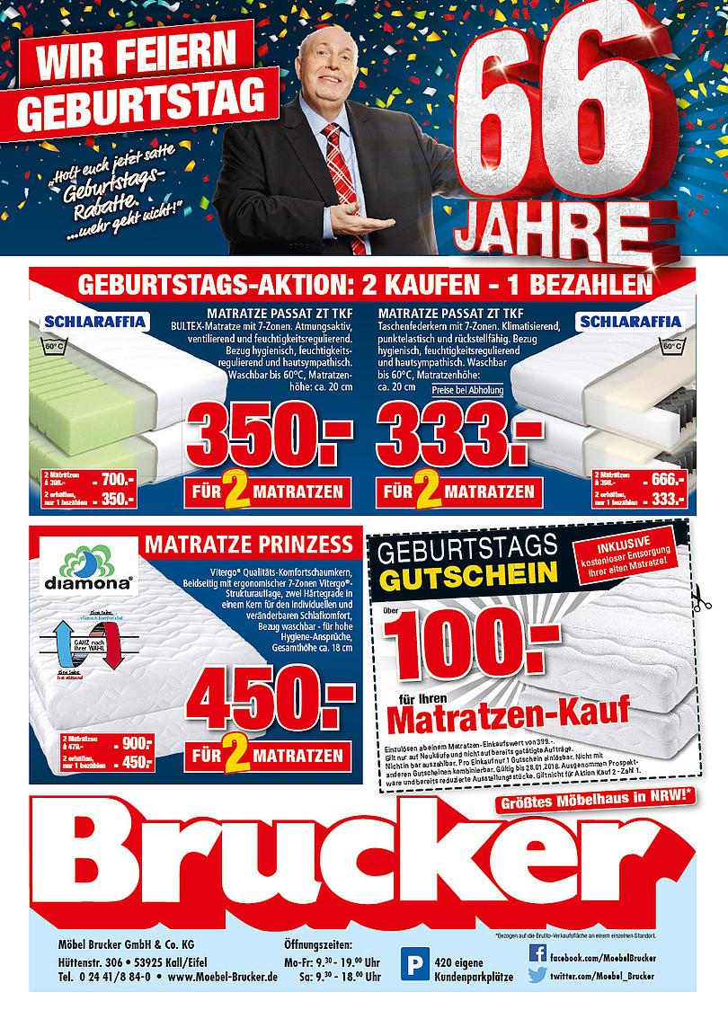 """Reiner Calmund – Möbel Brucker – 2. Mailing """"66 Jahre"""""""