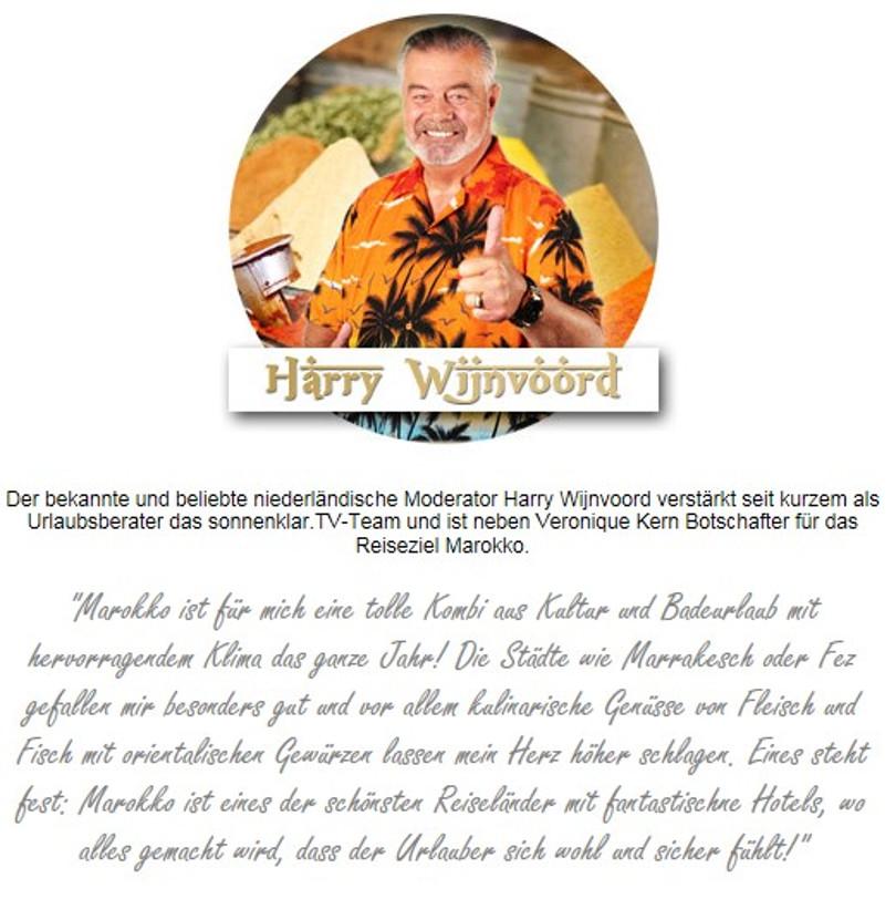 "Harry Wijnvoord – Sonnenklar.TV – ""Werbebotschafter für Marokko"""