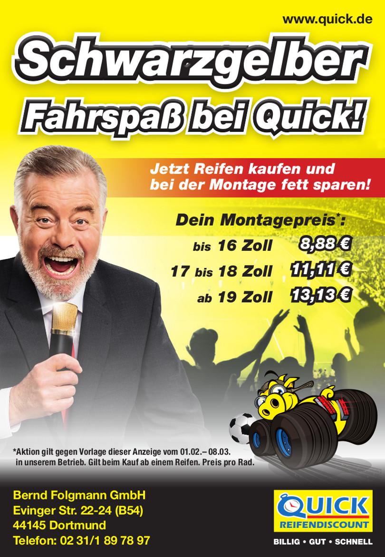 """Harry Wijnvoord – Quick Reifendiscount – """"Fahrspaß bei Quick!"""""""