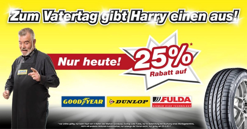 "Harry Wijnvoord – Quick Reifendiscount – ""Vatertag"""