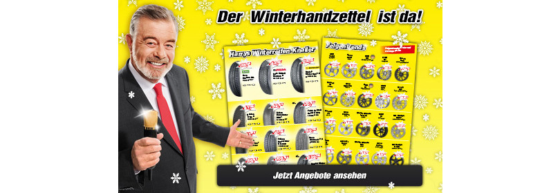 "Harry Wijnvoord – Quick Reifendiscount – ""Winterhandzettel"""