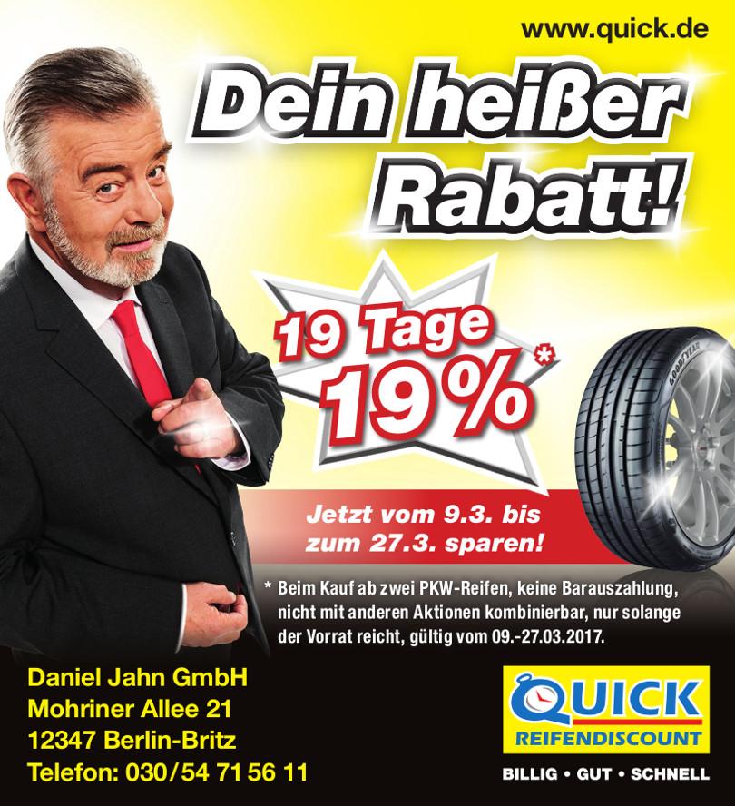 """Harry Wijnvoord – Quick Reifendiscount – """"Dein heißer Rabatt!"""""""
