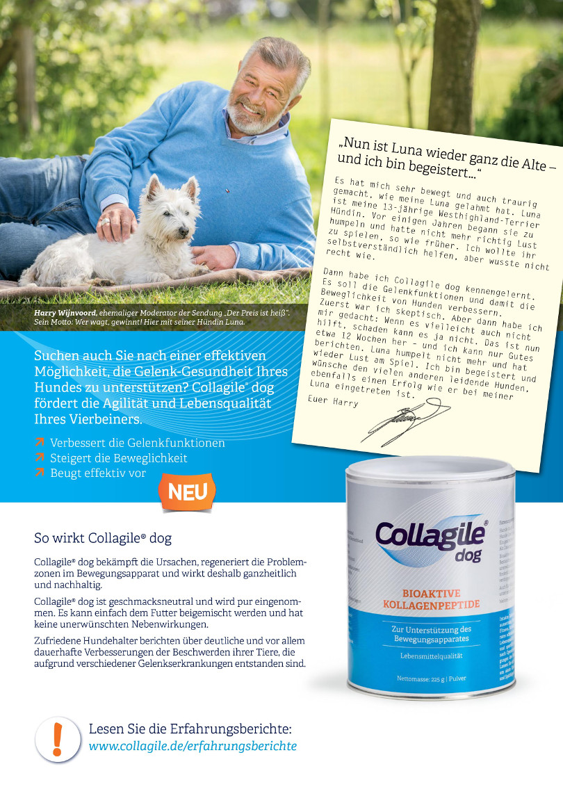 Harry Wijnvoord -  COLLAGILE® dog – Bioaktive Kollagenpeptide
