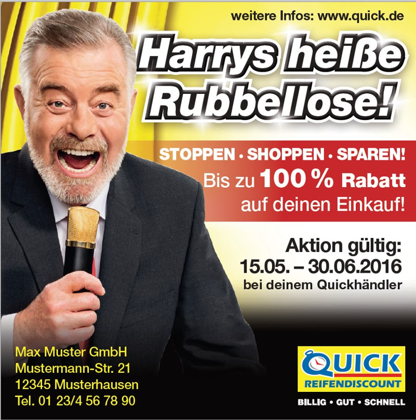 Harry Wijnvoord – Quick Reifendiscount – Harrys heiße Rubbellose!