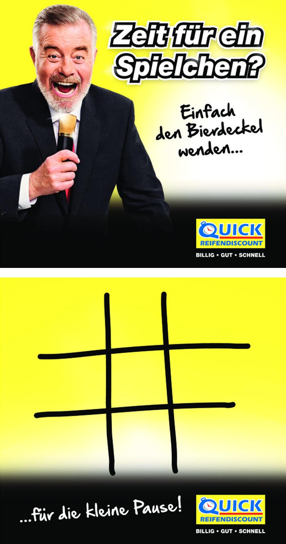 """Harry Wijnvoord – Quick Reifendiscount – """"Bierdeckel für Tagung"""""""