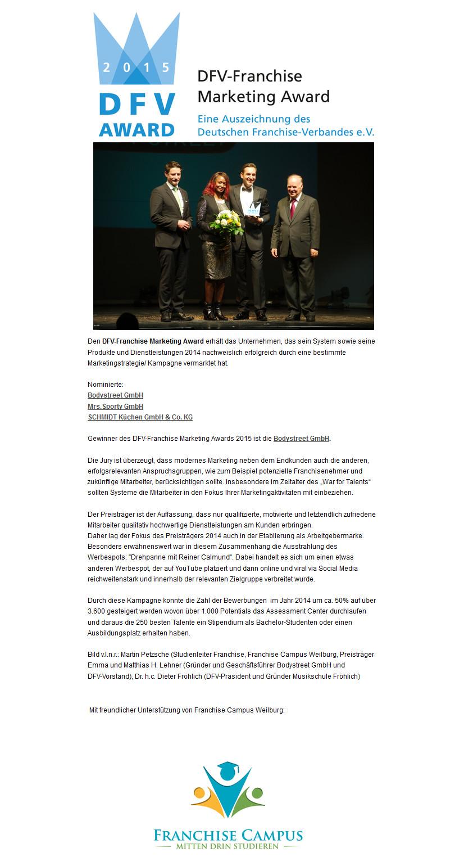 Reiner Calmund – DFV-Award - BODY STREET