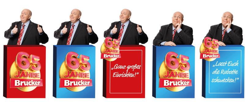 """Reiner Calmund – Möbel Brucker – """"Pappaufsteller"""""""