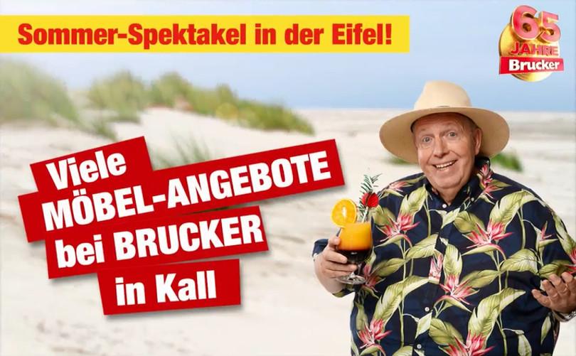 """Reiner Calmund – Möbel Brucker – """"Buswerbung"""""""