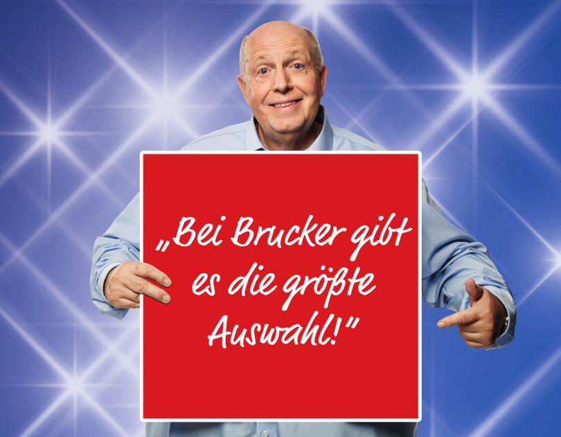 """Reiner Calmund – Möbel Brucker – """"Gigaprint – Größte Auswahl"""""""