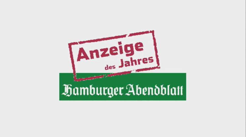 """Thorsten Bär - Hamburger Abendblatt """"Anzeige des Jahres"""""""